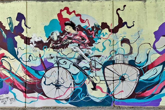 street art in bicicletta